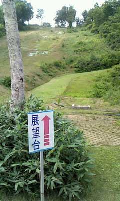 小毛無山展望台への道標